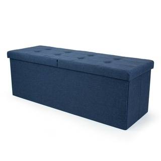 "Humble Crew Harper 43"" Folding Storage Ottoman Bench with Flip Lid"