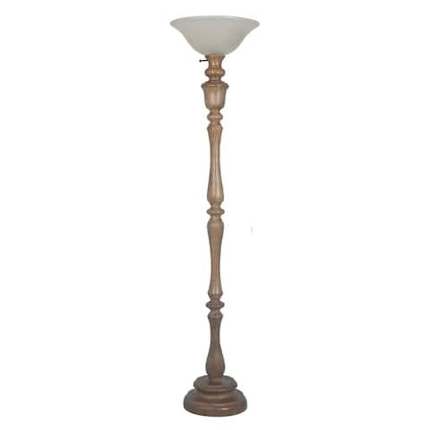 """Lamps Per Se 69""""Polyresin Floor Lamp"""