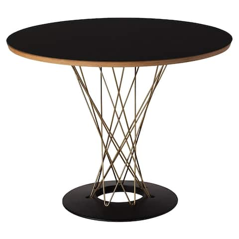 Strick & Bolton Shux Black/ Gold Round Dining Table