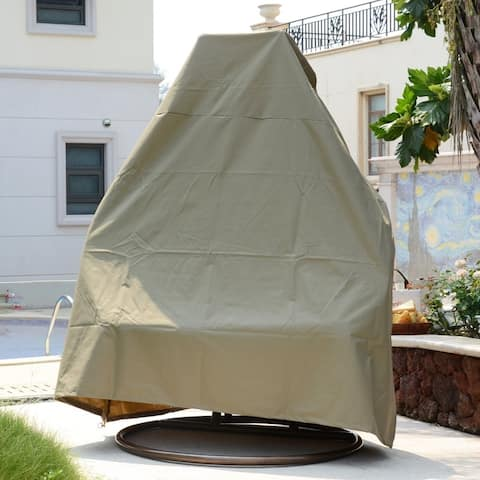 LeisureMod Patio Hanging Egg Swing Chair Canvas Cover