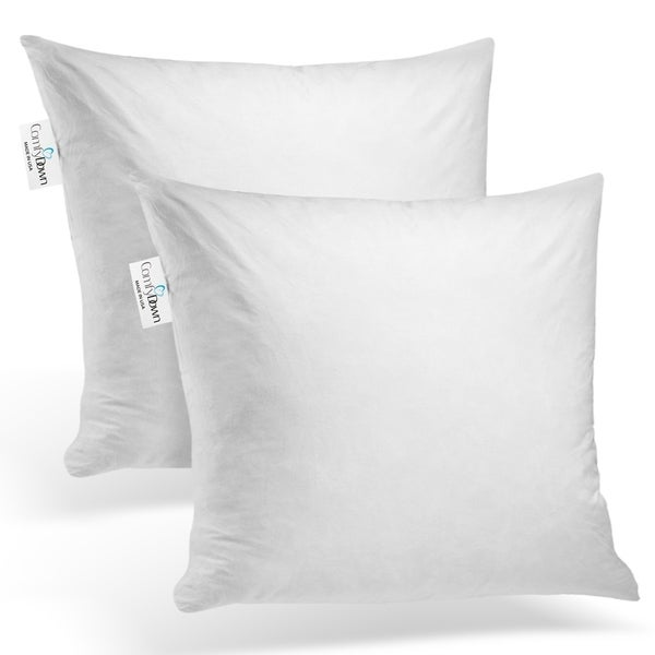 ComfyDown - Set of Two - 95% Feather 5% Down, Square Pillow Insert.. Opens flyout.