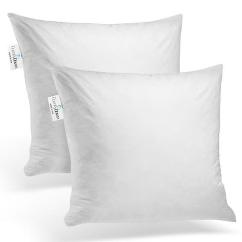 ComfyDown - Set of Two - 95% Feather 5% Down, Square Pillow Insert.