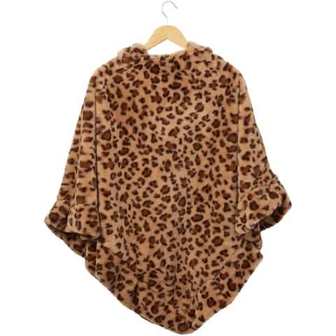Stella Fuzzy Leopard Poncho