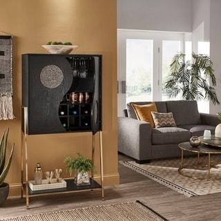 Princeton Black Finish Wine Cabinets  by iNSPIRE Q Bold