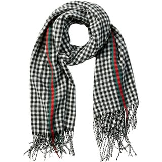 Link to Tickled Pink Petite Check Fringe Scarf Similar Items in Scarves & Wraps