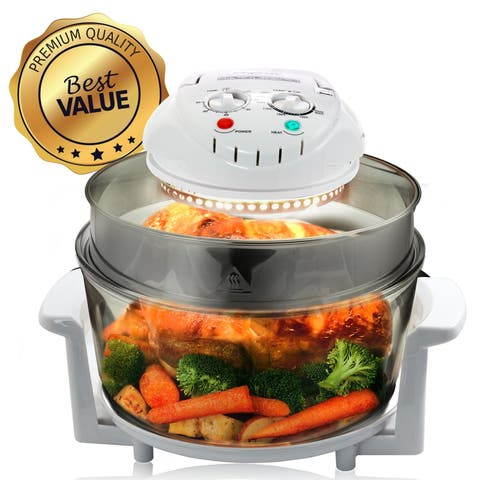 Megachef Multipurpose Countertop Halogen Oven Air Fryer in White