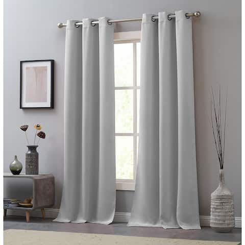 Juicy Couture Faux Suede Grommet Window Curtain Pair - N/A