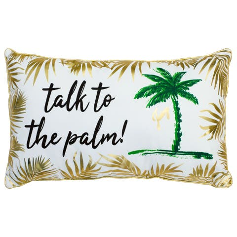 Juicy Couture Talk to The Palm Indoor/Outdoor Pillow