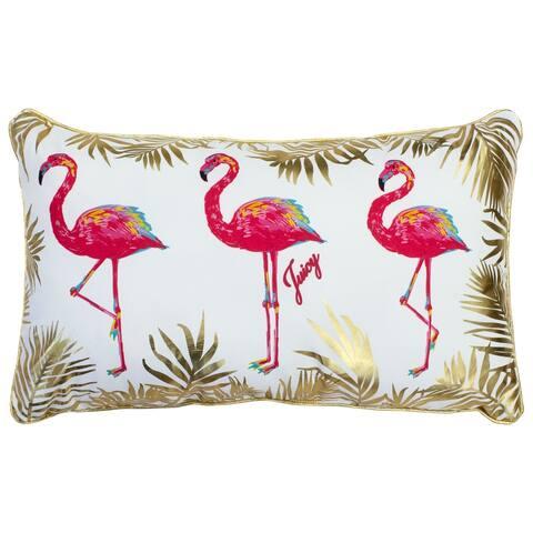 Juicy Couture Flamingo Flock Indoor/Outdoor Pillow