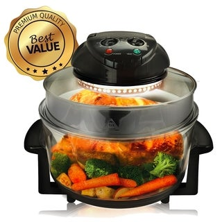 Megachef Multipurpose Countertop Halogen Oven Air fryer in Black