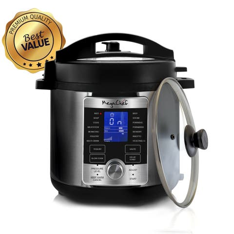 Megachef 6 Quart Stainless Steel Electric Digital Pressure Cooker