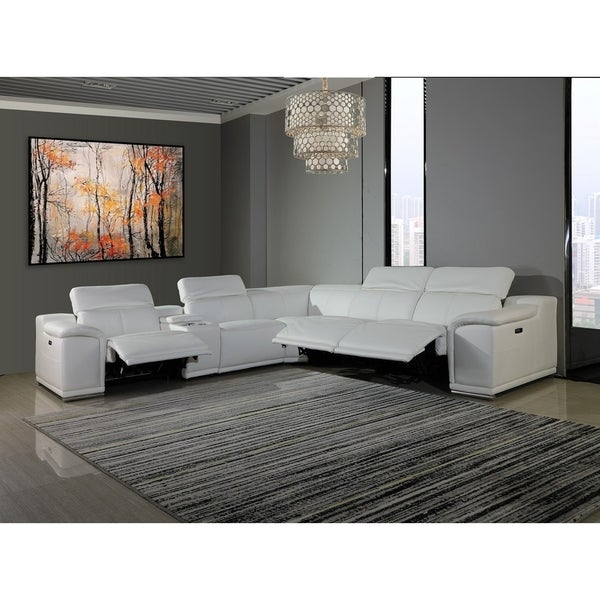 Buy White, Leather Sectional Sofas Online at Overstock | Our ...
