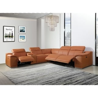 Florence 3-Power Reclining 6PC  w/ 1-Console Leather Sectional Sofa