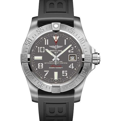 Breitling Men's A1733110-F563-152S 'Avenger II Seawolf' Automatic Black Rubber Watch