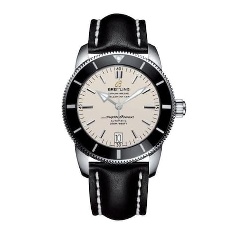 Breitling Men's AB201012-G827-436X 'Superocean Heritage II' Automatic Black Leather Watch
