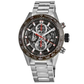 Link to Tag Heuer Men's CAR201U.BA0766 'Carrera' Chronograph Stainless Steel Watch Similar Items in Men's Watches