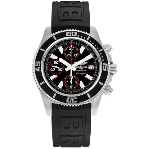 Breitling Men's A1334102-BA81-152S 'Superocean II 44' Chronograph Automatic Black Rubber Watch