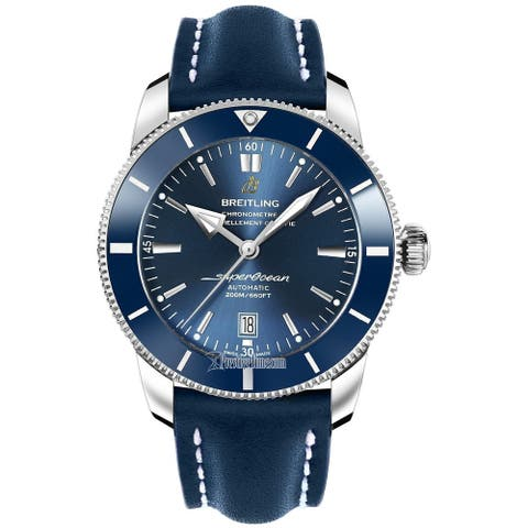 Breitling Men's AB202016-C961-101X 'Superocean Heritage II' Automatic Blue Leather Watch