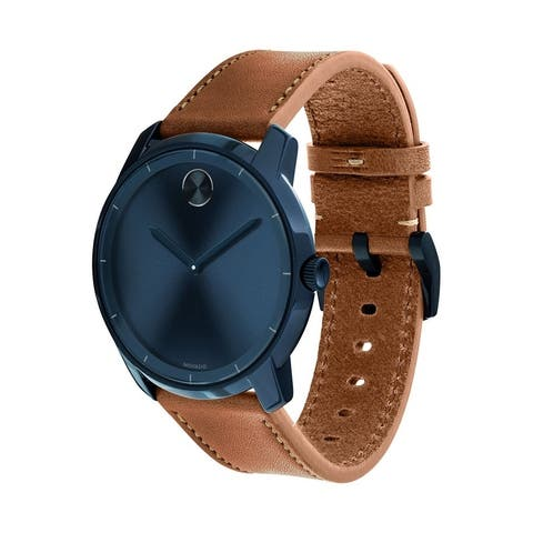 Movado Men's 3600470 'Bold' Brown Leather Watch
