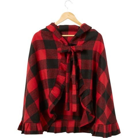 Little Red Ruffle Cape