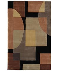 Safavieh Handmade Rodeo Drive Modern Abstract Olive/ Black Wool Rug - 5' x 8'