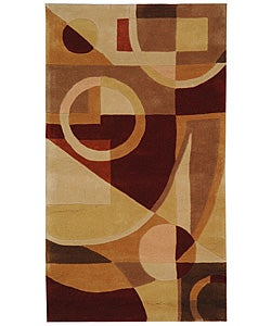 Safavieh Handmade Rodeo Drive Modern Abstract Beige/ Multi Wool Rug (2'6 x 4'6)