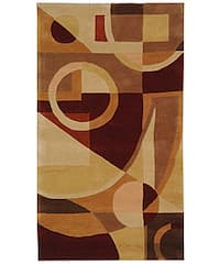 "Safavieh Handmade Rodeo Drive Modern Abstract Beige/ Multi Wool Rug - 2'6"" x 4'6"""