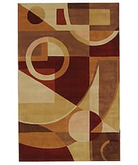 Safavieh Handmade Rodeo Drive Modern Abstract Beige/ Multi Wool Rug - 3'6 x 5'6