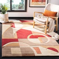 "Safavieh Handmade Rodeo Drive Modern Abstract Beige/ Multi Wool Rug - 3'-6"" x 5'-6"""