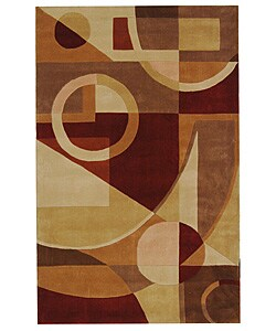 Safavieh Handmade Rodeo Drive Modern Abstract Beige/ Multi Wool Rug (6' x 9')