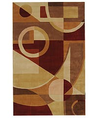 Safavieh Handmade Rodeo Drive Modern Abstract Beige/ Multi Wool Rug - 6' x 9'