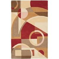 Safavieh Handmade Rodeo Drive Modern Abstract Beige/ Multi Wool Rug - 6' x 9'