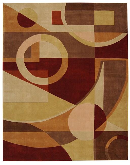 "Safavieh Handmade Rodeo Drive Modern Abstract Beige/ Multi Wool Rug - 7'6"" x 9'6"""