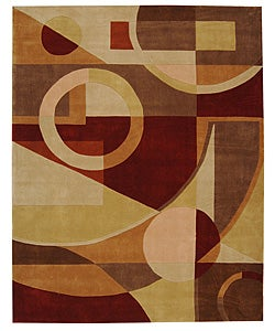 Safavieh Handmade Rodeo Drive Modern Abstract Beige/ Multi Wool Rug - 7'6 x 9'6 - Thumbnail 0