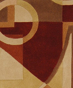 Safavieh Handmade Rodeo Drive Modern Abstract Beige/ Multi Wool Runner Rug (2'6 x 12') - Thumbnail 2