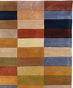 Safavieh Handmade Rodeo Drive Modern Abstract Multicolored Wool Rug (2' 6 x 4' 6) - Thumbnail 1