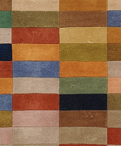 Safavieh Handmade Rodeo Drive Modern Abstract Multicolored Wool Rug (2' 6 x 4' 6) - Thumbnail 2