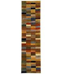 "Safavieh Handmade Rodeo Drive Modern Abstract Multicolored Wool Runner Rug - 2'6"" x 8'"