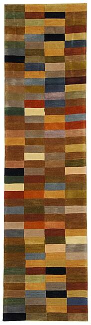 Safavieh Handmade Rodeo Drive Modern Abstract Multicolored Wool Runner Rug (2'6 x 12')