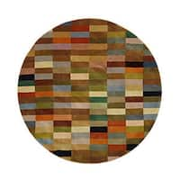 "Safavieh Handmade Rodeo Drive Modern Abstract Multicolored Wool Rug - Assorted - 5'9"" x 5'9"" round"