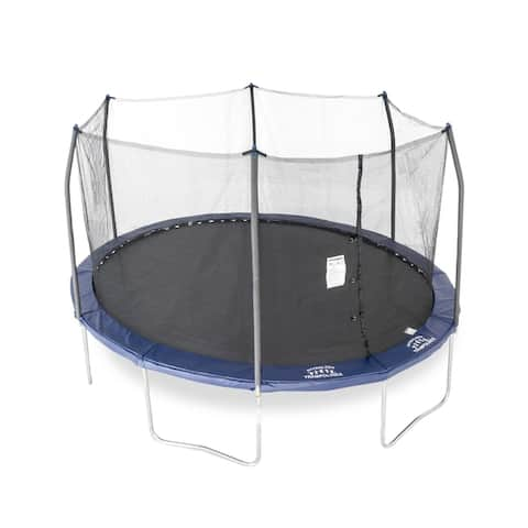 Skywalker Trampolines 15x13 Oval Trampoline Combo with Navy Spring Pad