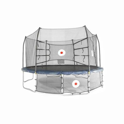 ActivPlay 15x13 Oval Trampoline Combo Kickback and Bounce back