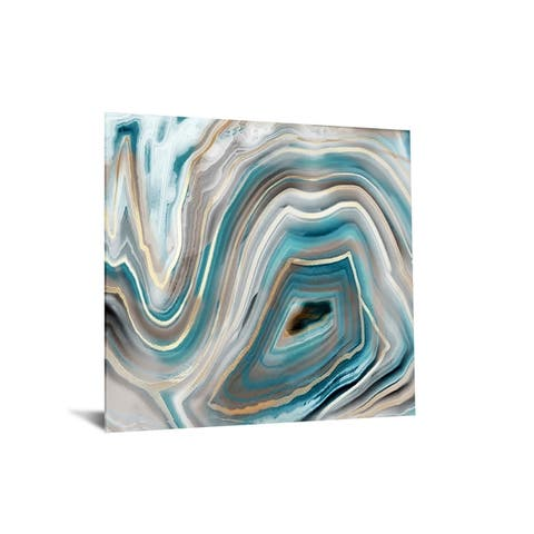 "40x60 Brilliant Tempered Glass ""Abstract Quartz II, with Foil"" by Classy Art"