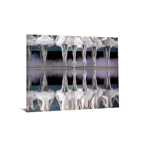 """40x60 Brilliant Tempered Glass """"Ballerina Lineup"""" by Classy Art"""