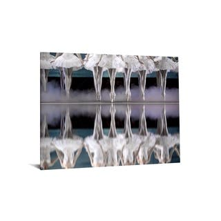 "40x60 Brilliant Tempered Glass ""Ballerina Lineup"" by Classy Art"
