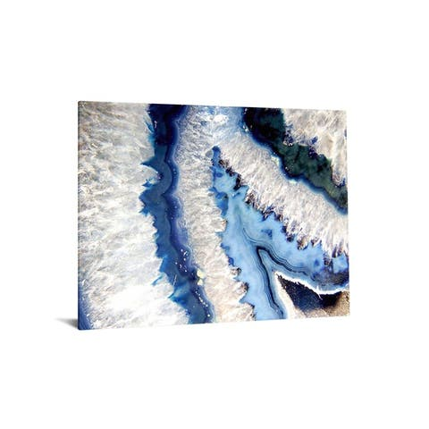 "40x60 Brilliant Tempered Glass ""Blue Quartz I, with Foil"" By Classy Art"