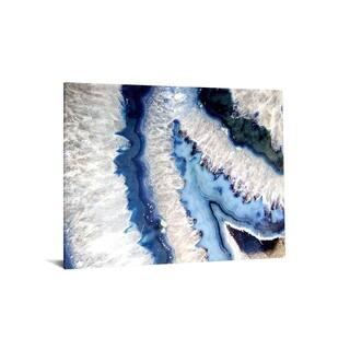 "40x60 Brilliant Tempered Glass ""Blue Quartz I, with Foil"" By Classy Art"