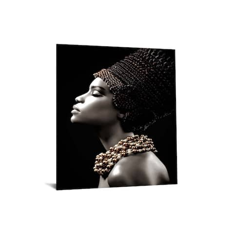 """40x60 Brilliant Tempered Glass """"Sultry Womans Profile"""" by Classy Art"""