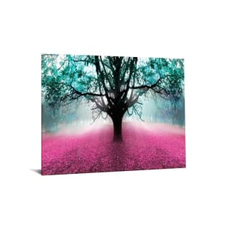 """40x60 Brilliant Tempered Glass """"Vibrant Forest"""" by Classy Art"""