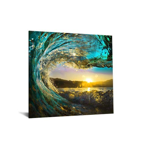 "40x60 Brilliant Tempered Glass ""Catching the Sun"" by Classy Art"